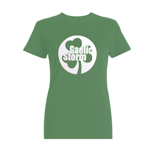 Ladies Green Shamrock Tee