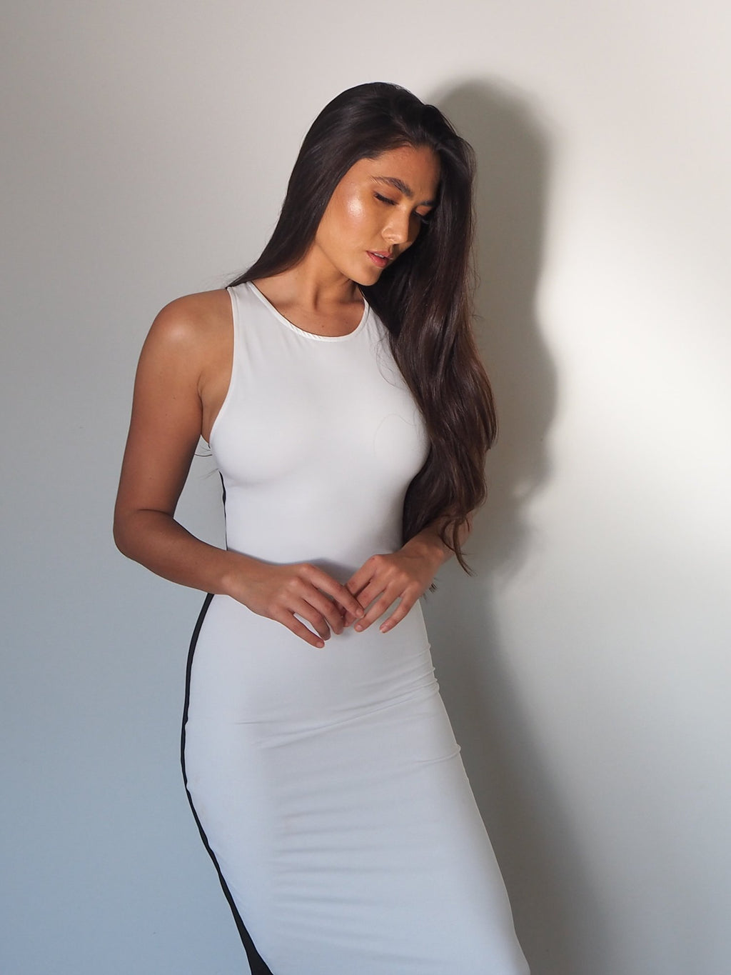 THE HIGH LINE DRESS WHITE/BLACK