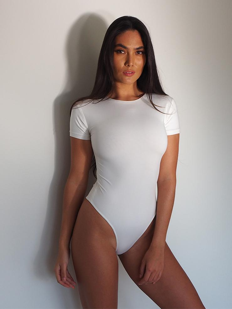 THE CLASSIC TEE BODYSUIT WHITE