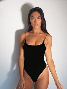 THE ICON BODYSUIT BLACK