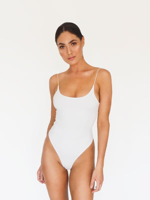 THE ICON BODYSUIT WHITE - HAUS