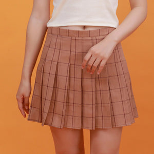 """PLEATED PLAID"" SKIRTS"