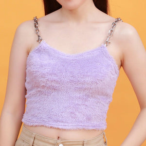"""LAVENDER FURRY"" CROP TOP"