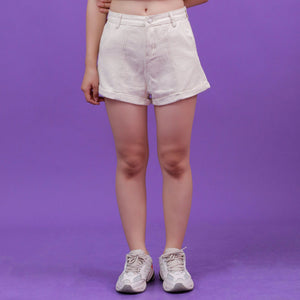 """ROLL-UP"" DENIM SHORTS"