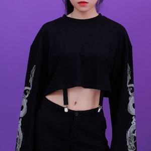 """DRAGON"" CROPPED LONG SLEEVE"