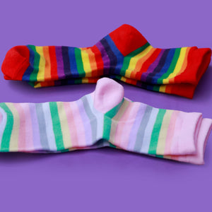 """PASTEL RAINBOW"" SOCKS"
