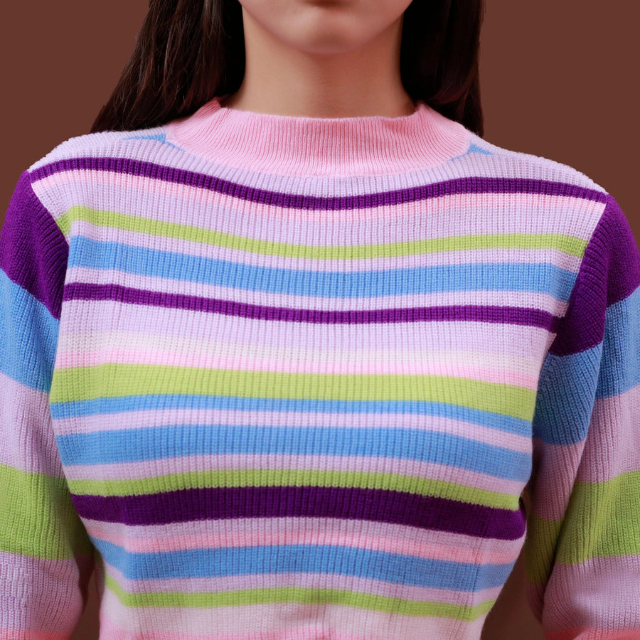 """PASTEL"" CROPPED SWEATER"