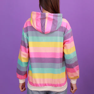 """RAINBOW STRIPED"" HOODIES"
