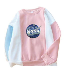 """NASA: STARRY NIGHT"" PASTEL BLOCK SWEATSHIRTS"