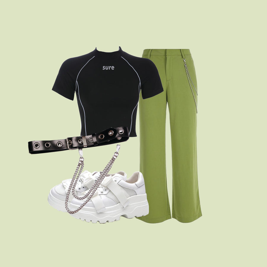 GREEN-BLACK (2 OUTFITS)
