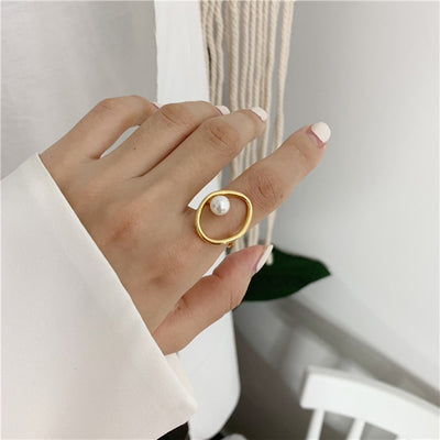 """FAUX PEARL"" RING"