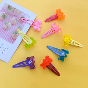 """GUMMY BEAR"" HAIR CLIPS"