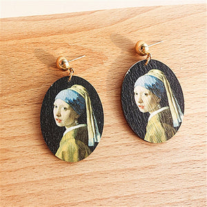 """GIRL WITH A PEARL EARRING ON A STARRY NIGHT"" EARRINGS"
