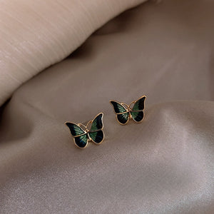 """EMERALD BUTTERFLY"" EARRINGS"