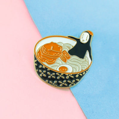 """BATHING IN RAMEN"" PIN"
