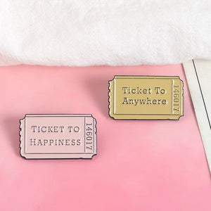 """TICKET TO:"" PINS"