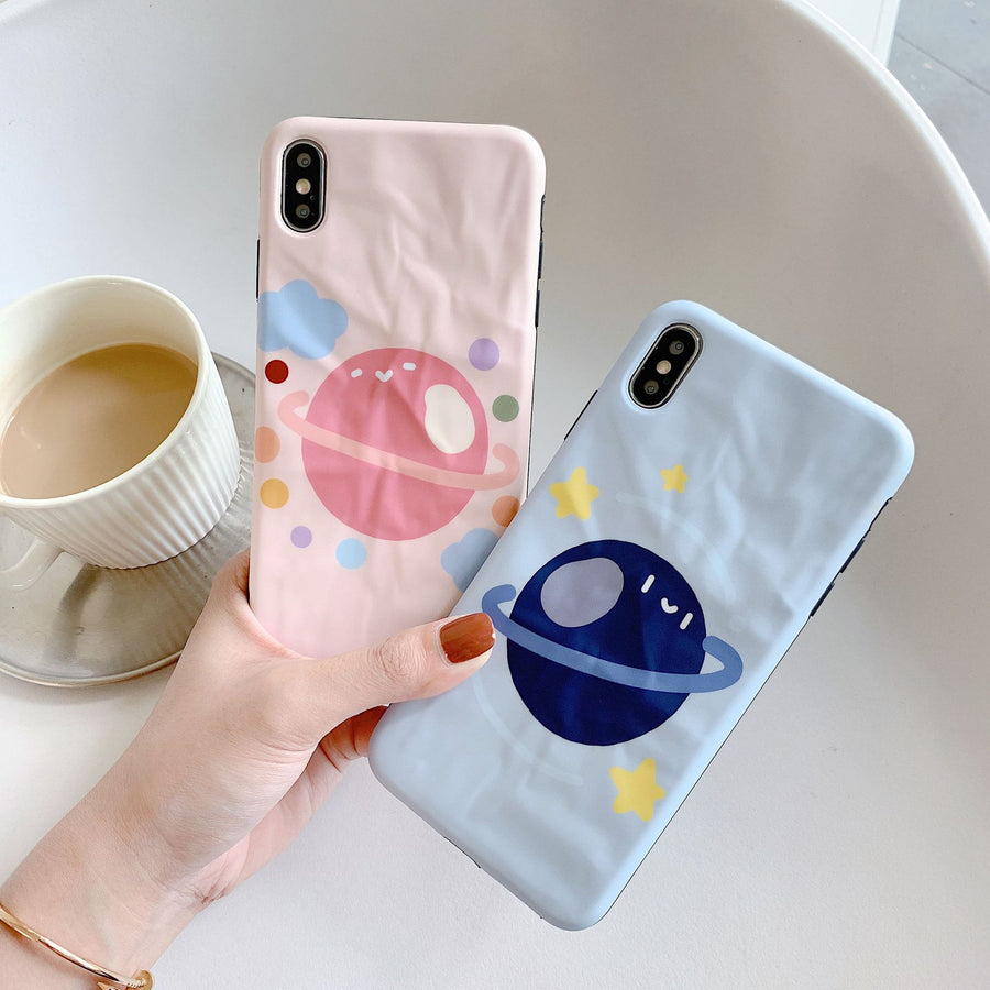 """BLUE & PINK PLANET"" CASES"