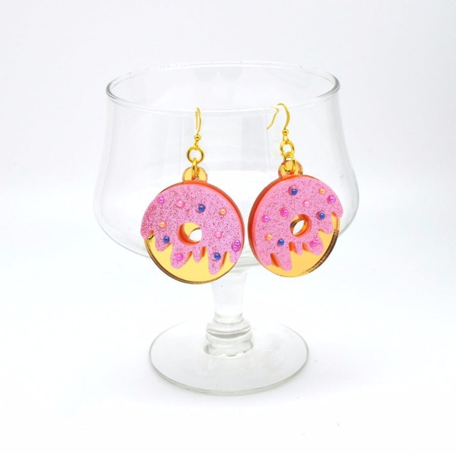"""GLITTERY DONUT"" EARRINGS"