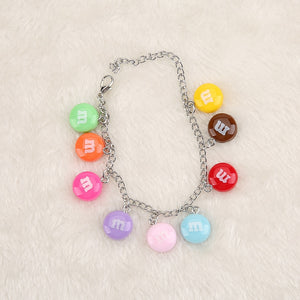 """M&M"" BRACELET + NECKLACE + KEYCHAIN"