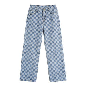 """CHECKERED"" JEANS"