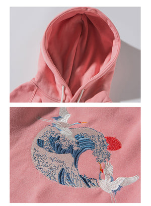 """EMBROIDERED TSUNAMI"" HOODIES"