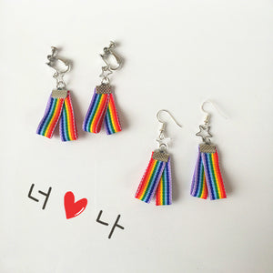 """RAINBOW BELT"" CHOKER + EARRINGS"