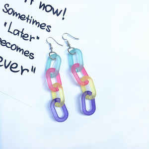 """CHAINED"" EARRINGS"