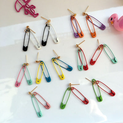 """SAFETY PIN"" EARRINGS"