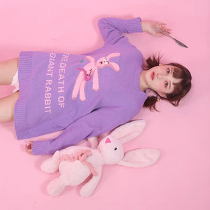"""THE DEATH OF A GIANT RABBIT"" SWEATER"