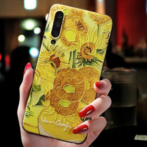 """EMBOSSED STARRY NIGHT + SUNFLOWER"" SAMSUNG CASES"