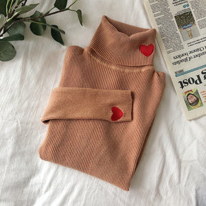 """HEART"" TURTLENECK SWEATERS"