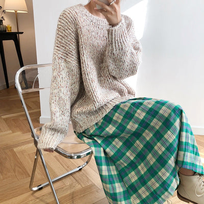 """SPECKLED KNIT"" SWEATERS"