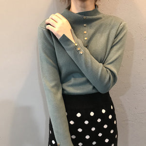 """KNITTED BUTTON-UP"" SWEATER"