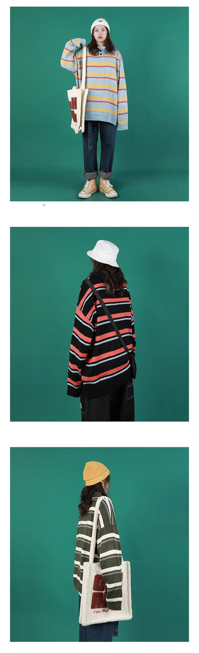 """HENLEY STRIPED"" SWEATERS"