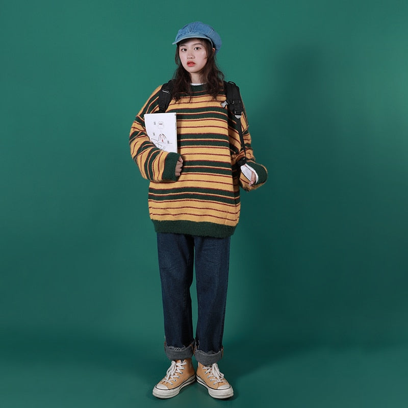 """FURRY STRIPED"" SWEATERS"