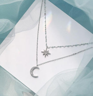 """TO THE MOON AND STARS"" NECKLACE"
