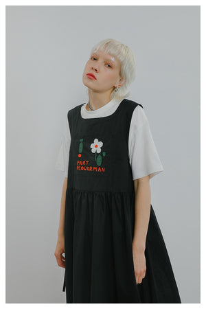 """FART FLOWER MAN"" SLEEVELESS DRESS"