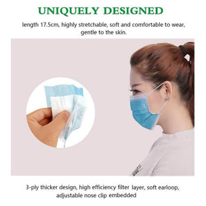 """3-PLY DISPOSABLE"" FACE MASKS"