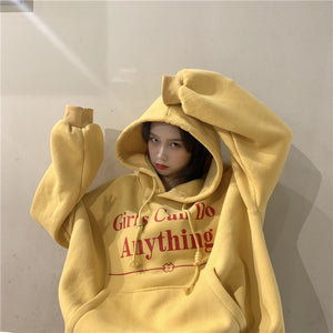 """GIRLS CAN DO ANYTHING"" OVERSIZED HOODIES"
