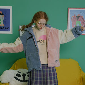"""PASTEL FURRY"" JACKET"