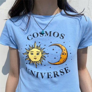 """COSMOS UNIVERSE"" CROP TOP"