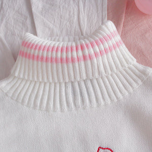 """STRAWBERRY MILK"" TURTLENECK SWEATERS"
