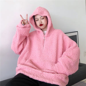 """OVERSIZED FURRY"" HOODIES"