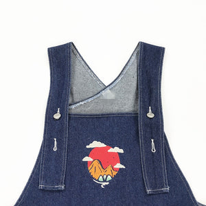 """BEYOND THE MOUNTAINS"" DENIM OVERALLS"