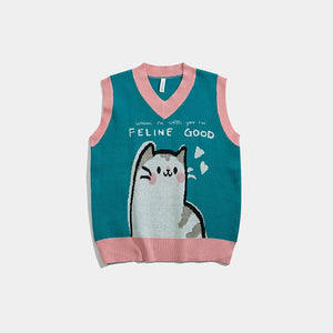 """FELINE GOOD"" SWEATER VEST"