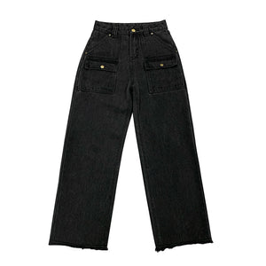 """BLACK FRONT POCKETED"" JEANS"