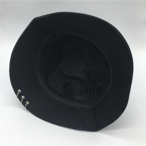 """PIERCED"" BUCKET HAT"