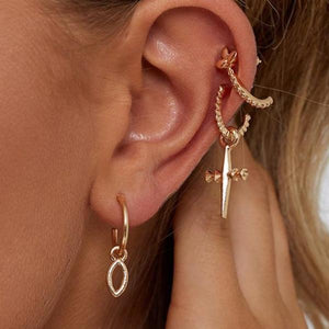 """CROSS"" EARRINGS SET"