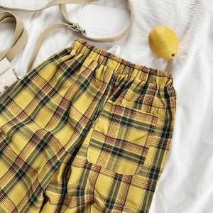 """SUNFLOWER"" PLAID PANTS"