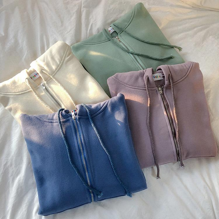 """PASTEL"" ZIPPED HOODIES"